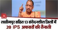 किसान आंदोलन और त्योहारों के मद्देनजरयोगी सरकार अलर्ट,13 संवेदनशील जिलों में 20 IPS अफसरों की तैनाती