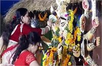 बंगाली समाज ने दी मां दुर्गा को विदाई, प्रतिमा विसर्जन से पहले मनाया सिंदूर उत्सव