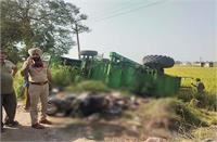 दर्दनाक सड़क हादसे में पत्नी की हुई मौत व पति गंभीर घायल
