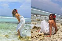Maldives Trip: मोनोकनी लुक के बाद अब सिर्फ चादर लपेट गोविंदा की भांजी ने खिचवाईं तस्वीरें,बीच पर किनारे मचाया गदर