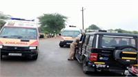 महोबा में अनियंत्रित होकर खाई में गिरी बस, 13 यात्री घायल