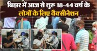 कोरोना: बिहार में आज से शुरू 18 से 44 वर्ष की उम्र वालों के लिए वैक्सीनेशन, कतारों में खड़े लोग