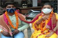 पुलिस स्टेशन में बना मंडप तो महिला इंस्पेक्टर ने करवाई शादी, 7 फेरों संग एक हुए कोमल व महेश