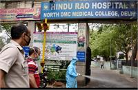 दिल्लीः हिंदूराव हॉस्पिटल से भागे 25 कोरोना मरीज, दिल्ली पुलिस तलाश में जुटी