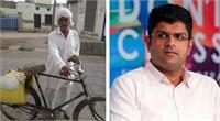 उप मुख्यमंत्री के गांव में पेयजल को लेकर हाहाकार, साइकिल से पानी ढोने को मजबूर बुजुर्ग
