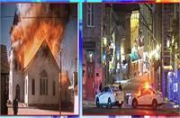 कनाडा में संदिग्ध परिस्थतियों में आग लगने से दो गिरजाघर जलकर खाक