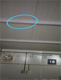 बारिश में टपकने लगी टांडा के मेकशिफ्ट अस्पताल की छत