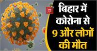 बिहार में कोरोना से 9 और लोगों की मौत, 410 नए मामले प्रकाश में आए