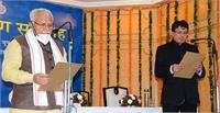 मुख्यमंत्री ने टी.सी. गुप्ता को हरियाणा सेवा अधिकार आयोग के मुख्य आयुक्त पद की शपथ दिलाई