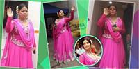 बालों में गजरा, पिंक सूट पहन मुंबई की सड़कों पर उतरीं भारती सिंह, लुक देख याद आ जाएगी ''ओम शांति ओम'' की ''शांतिप्रिया''