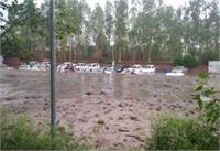 जालंधर में गिरी कार बाजार की दीवार, कई गाड़ियां क्षतिग्रस्त