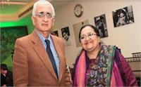पूर्व विदेश मंत्री खुर्शीद की पत्नी के खिलाफ गैर जमानती वारंट जारी, दिव्यांग उपकरण खरीद में गबन का आरोप