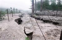 किन्नौर के खरोगला नाले में आई बाढ़, सेब के बगीचों को पहुंचा नुक्सान