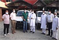 मुकेश अग्निहोत्री ने स्वास्थ्य विभाग को दी दो एंबुलेंस, कहा महामारी से जनता को बचाना प्राथमिकता