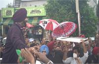 जालंधर पहुंचे प्रधान नवजोत सिंह सिद्धू, जोरों-शोरों से हुआ स्वागत