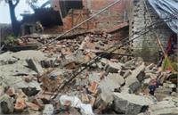 UP में भारी बारिश का कहर: सीतापुर में मकान की छत और दीवार ढही, मां-बेटे की दर्दनाक मौत