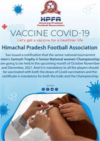 सभी फुटबॉल खिलाडिय़ों के लिए कोविड़ वैक्सीन लगवाना अनिवार्य