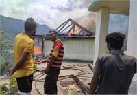 कुल्लू के जनाहल गांव में भीषण अग्निकांड, दो मंजिला मकान जलकर राख