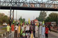 भारत बंद: दिल्ली-अमृतसर नेशनल हाईवे जाम, दोराहा में 13 स्थानों पर धरना