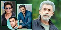 नसीरुद्दीन शाह का शाहरुख,सलमान,आमिर को लेकर बेबाक बयान-मन की बात कहने पर उत्पीड़न का डर इसलिए हर मुद्दे पर चुप रहते हैं तीनों ''खान''