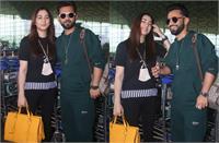 पत्नी दिशा संग मालदीव रवाना हुए राहुल वैद्य,एयरपोर्ट कपल का दिखा कूल लुक