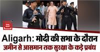 PM मोदी की सभा के दौरान 'अभेद्य दुर्ग' में तब्दील रहेगा अलीगढ़, जमीन से आसमान तक सुरक्षा के कड़े प्रबंध