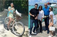 मालदीव में फैमिली संग जमकर मस्ती कर रही परिणीति चोपड़ा, शॉर्ट पहनकर यूं चलाई साइकिल