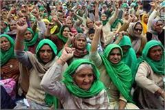 kisan agitation women s declaration  will not go back will also stay journey