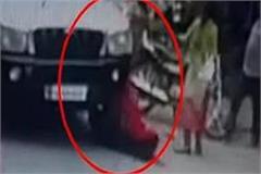 the scorpio driver broke both legs of a woman