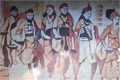 artworks decorating the walls before kumbh