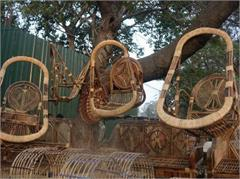 traders bamboo baskets dussehra