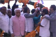 palwal projects chief minister rally legislator