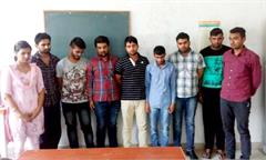 exam hall girl youths arrest