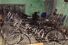 haryana kurukshetra department of education children bicycles