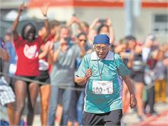 100 year old man kaur wins gold medal in american games in 100 metre