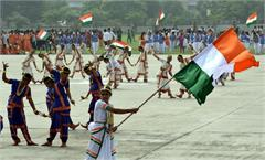 full dress reharsal for independence day celebration in prade ground