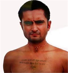 modi name tattoo on boy chest