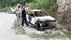 bankhandi car driver fire