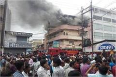 lakhs of losses in chhattisgarh  s biggest garment market