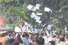 three factions clash over agra university  s election  police nab sticks