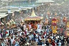 dussehra celebrated with grand chariot journey goddesses returned to home