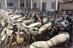 3 to 4 thousand motorcycles and scooters lying in police stations