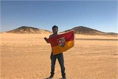 indian man claims land between egypt and sudan as his own country