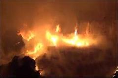 fire at plastic warehouse  fireworks worth lakhs