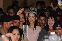 manushi chhillar reached india