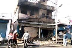 burning shop in the middle of the city  loss of millions