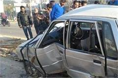 a car collided with a van