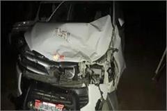 dm varanasi car collides with a bump