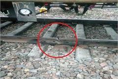 sonipat crack in railway track