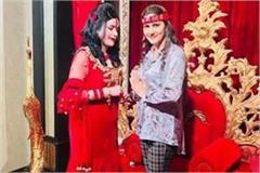 dancer sapna chaudhary took blessings from radhe ma